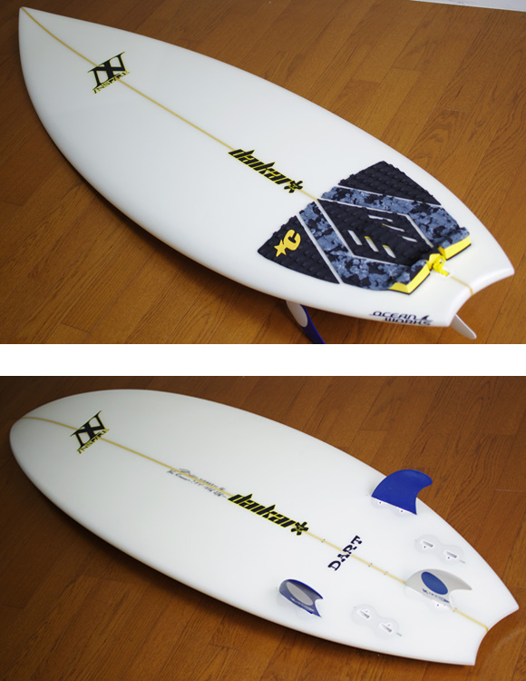 INSPIRE DART 中古ショートボード 5`9 deck/bottom-detail bno9629815b