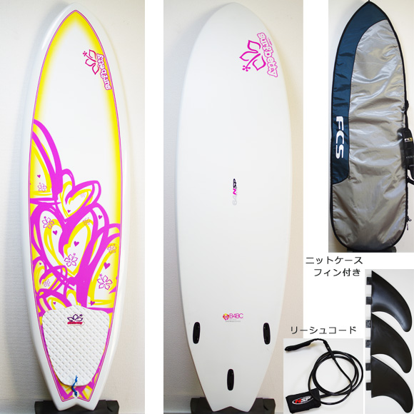NSP Surfbetty FISH 中古ファンボード 6`4f EPOXY deck/bottom bno9629824a