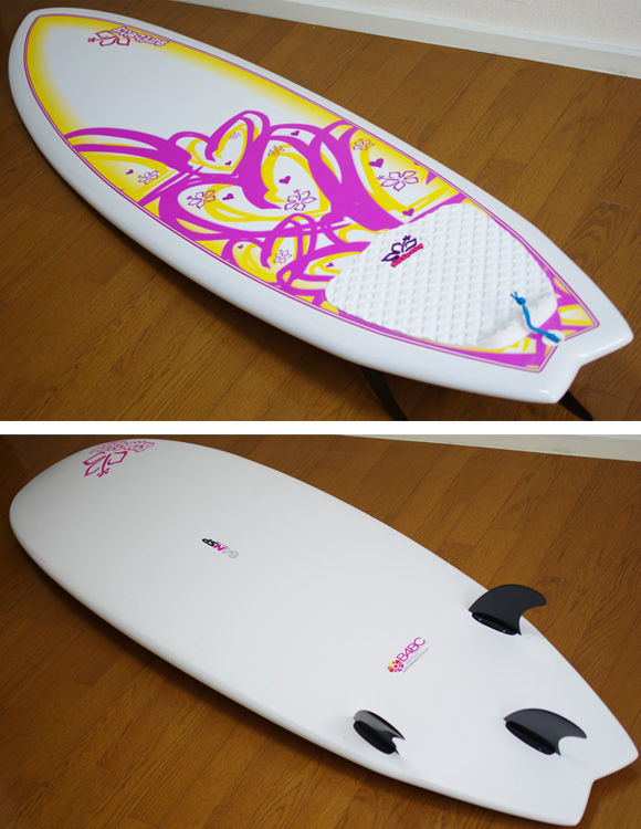 NSP Surfbetty FISH 中古ファンボード 6`4f EPOXY deck/bottom-detail bno9629824b