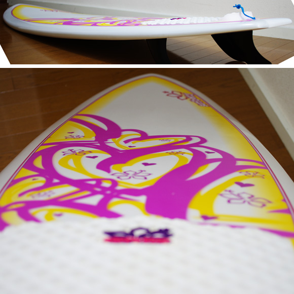 NSP Surfbetty FISH 中古ファンボード 6`4f EPOXY deck-condition bno9629824c