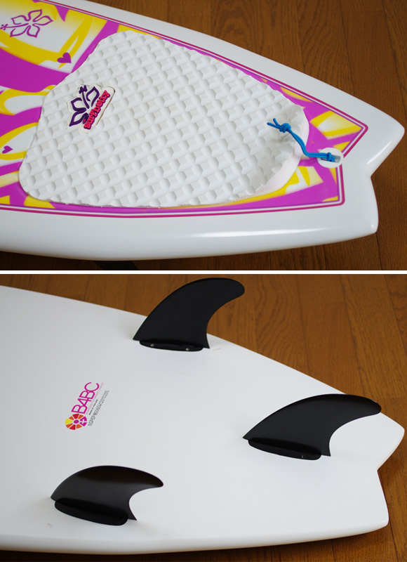 NSP Surfbetty FISH 中古ファンボード 6`4f EPOXY fin/tail bno9629824d