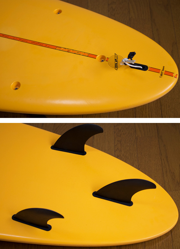 BIC SURF 中古ファンボード7`6 EPOXY fin/tail bno9629829d