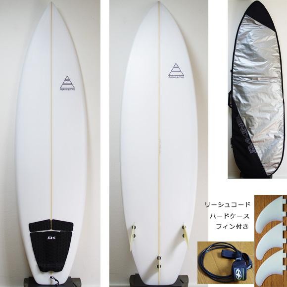 T-STICK 中古ショートボード 6`5 deck/bottom bno9629840a