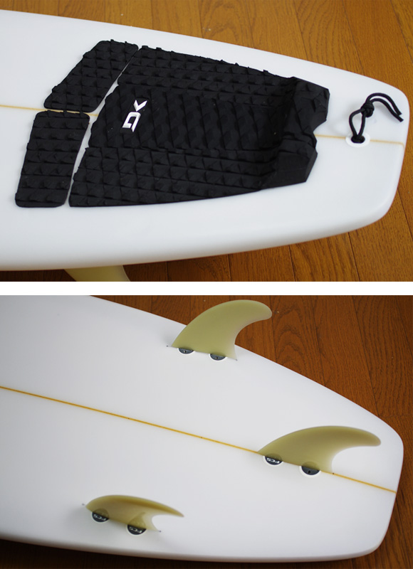 T-STICK 中古ショートボード 6`5 fin/tail bno9629840d