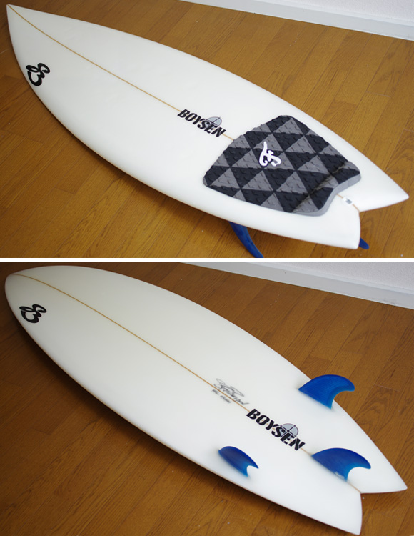 BOYSEN The JET 中古ショートボード 5`11 deck/bottom-detail bno9629842b