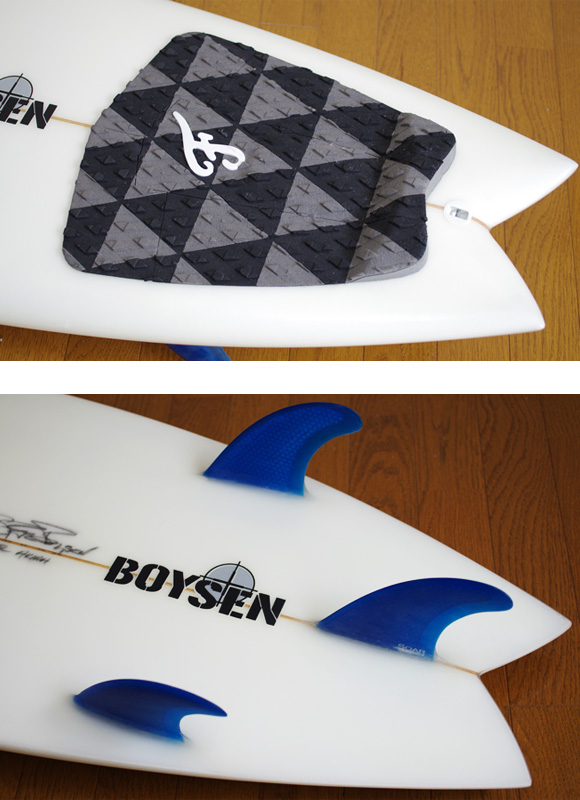 BOYSEN The JET 中古ショートボード 5`11 fin/tail bno9629842d
