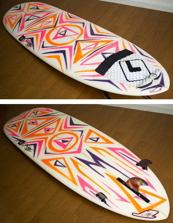 TAKE'S IN-LOW 中古ファンボード 6`4 deck/bottom-detail bno9629846b