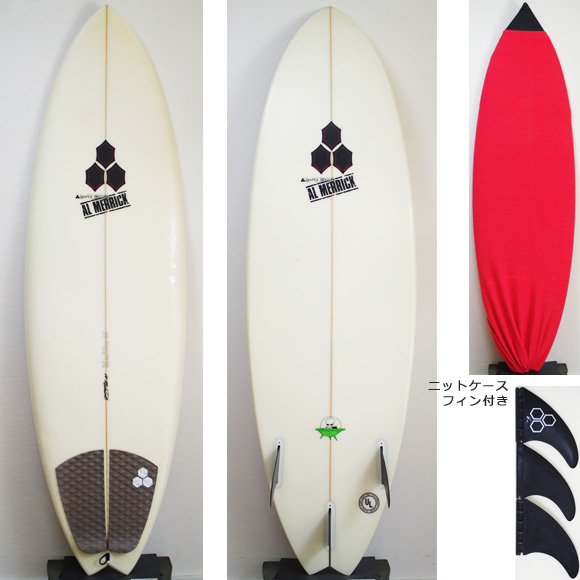 AL MERRIC The POD 中古ショートボード 5`10 deck/bottom bno9629847a