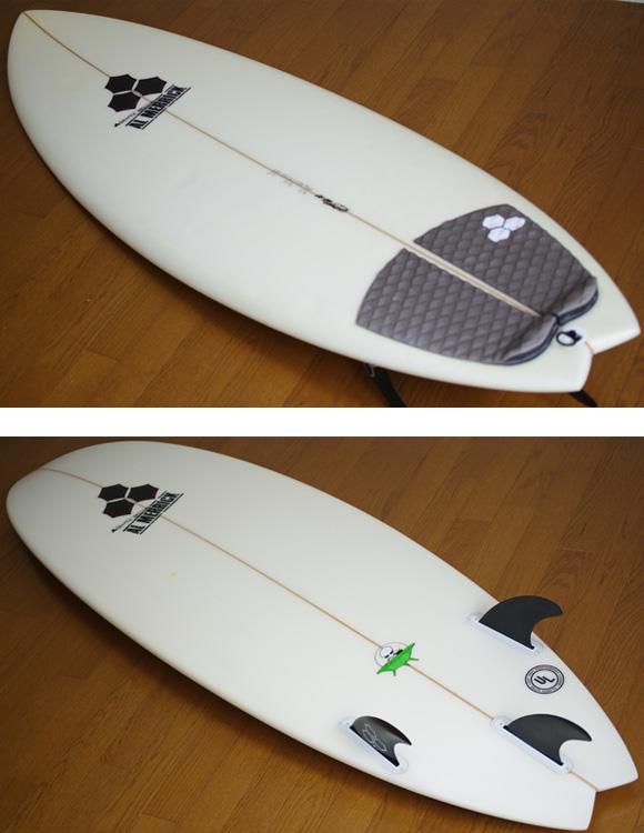 AL MERRIC The POD 中古ショートボード 5`10 deck/bottom-detail bno9629847b