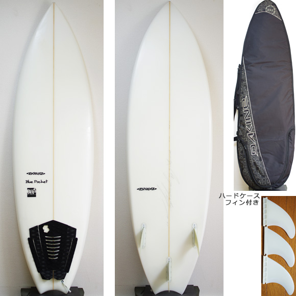 A-shape BluePocket 中古ショートボード 6` deck/bottom bno9629850a