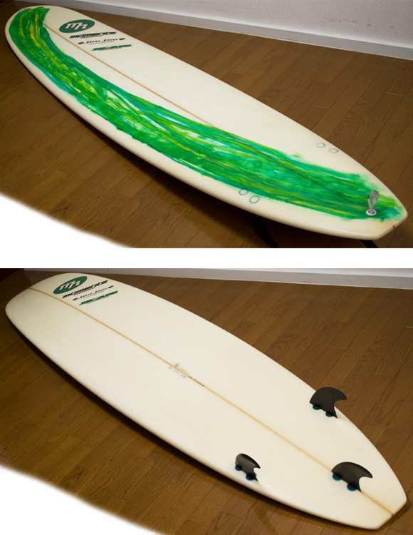 MOMENTS PRO MODEL 中古ロングボード 9`0 deck/bottom-detail bno9629852b