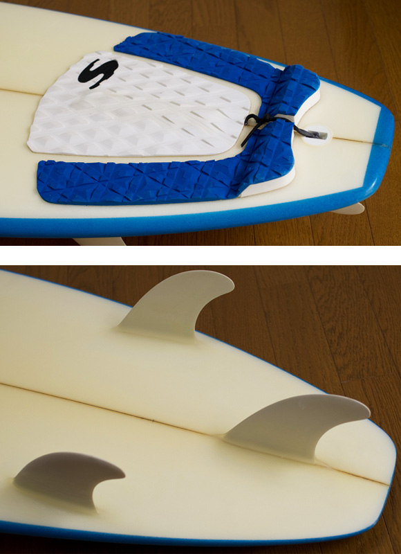 CARDIFF CLASSIC 中古ショートボード 6`7 fin/tail bno9629853d