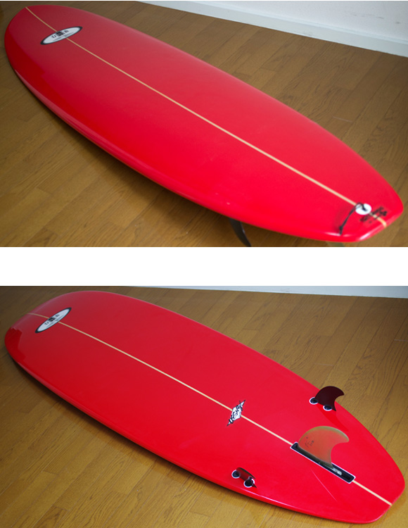 USB (UESUGI SURFBOARDS) 中古ファンボード7`3 deck/bottom-detail bno9629857b