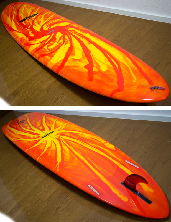 K-SHAPE 中古ロングボード 9`01 deck/bottom-detail bno9629864b