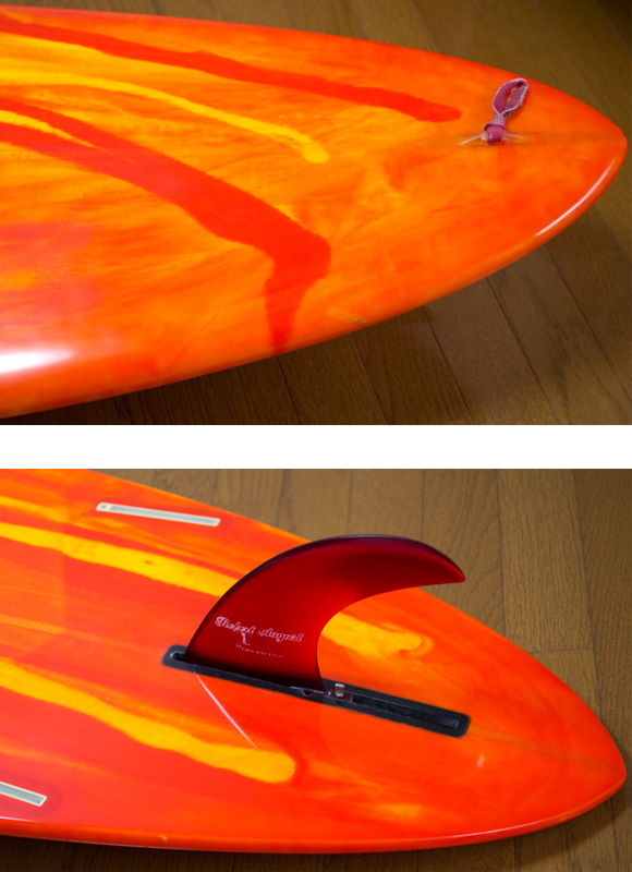 K-SHAPE 中古ロングボード 9`01 fin/tail bno9629864d