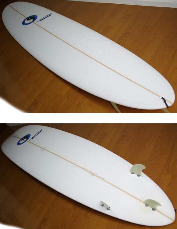 TOWN & COUNTRY PRO TOMMY TANAKA 中古ロングボード 9`0 deck/bottom-detail bno9629873b