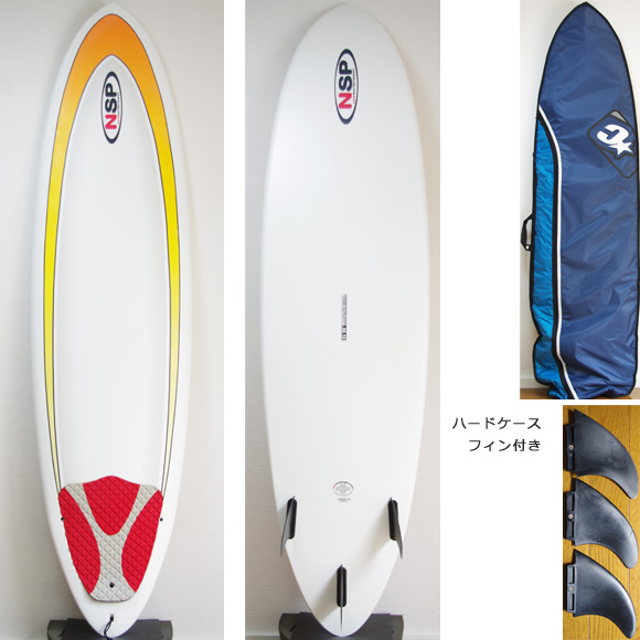 NSP 中古ファンボード 6`8 EPOXY deck/bottom bno9629874a