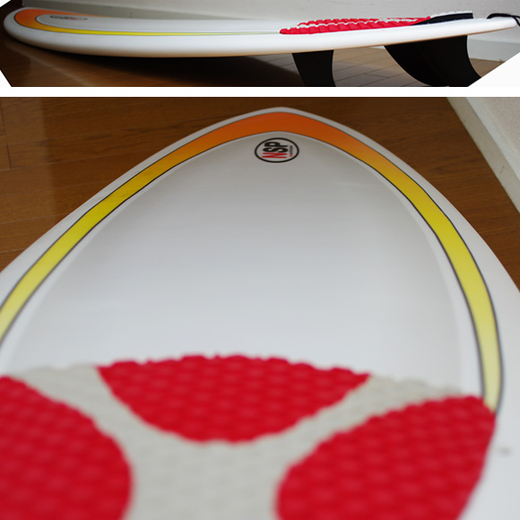 NSP 中古ファンボード 6`8 EPOXY deck-condition bno9629874c