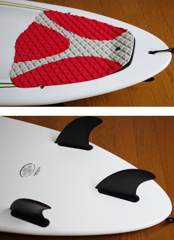NSP 中古ファンボード 6`8 EPOXY fin/tail bno9629874d