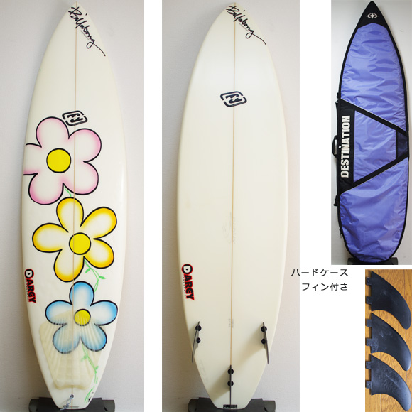 Billabong DARCY BJ-B6 中古ショートボード 6`4 deck/bottom bno9629875a
