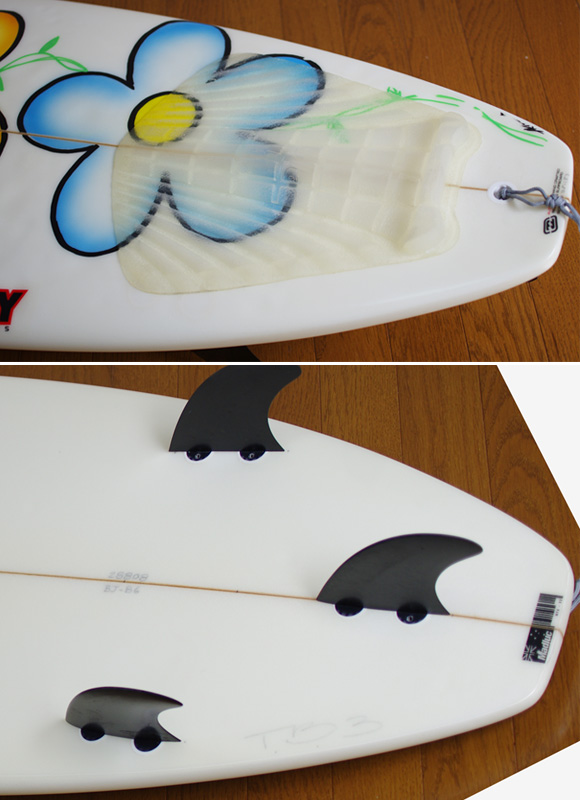 Billabong DARCY BJ-B6 中古ショートボード 6`4 fin/tail bno9629875d