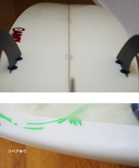 Billabong DARCY BJ-B6 中古ショートボード 6`4 condition/repair bno9629875e