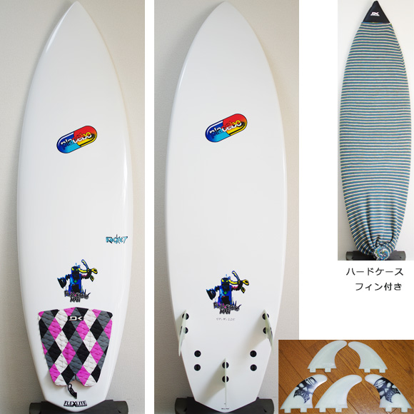 Placebo ROCKET 中古ショートボード 5`7 deck/bottom bno9629882a