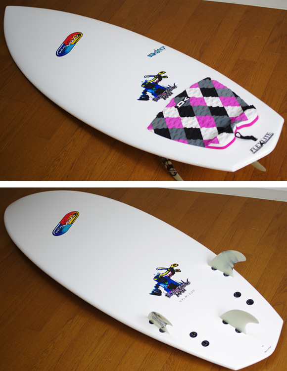 Placebo ROCKET 中古ショートボード 5`7 deck/bottom-detail bno9629882b