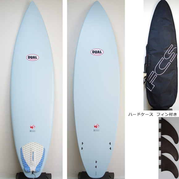 DUAL Surfboard EPS 中古ショートボード 6`6 deck/bottom bno9629889a