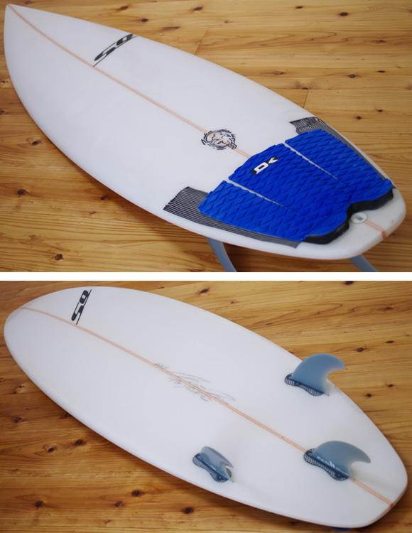 SEQUENCE 中古ショートボード 5`9 deck/bottom-detail bno96291009b