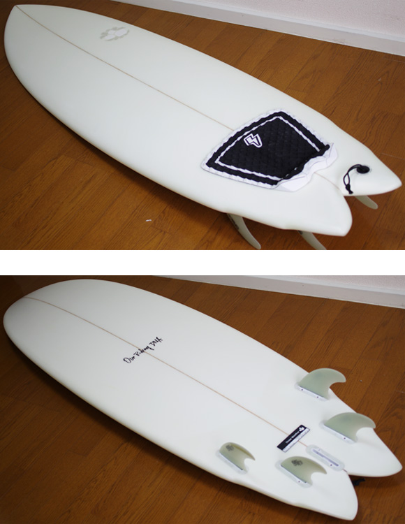 THREE WEATHER Vertical Winglet 中古ショートボード 6`2 deck/bottom-detail bno9629929b