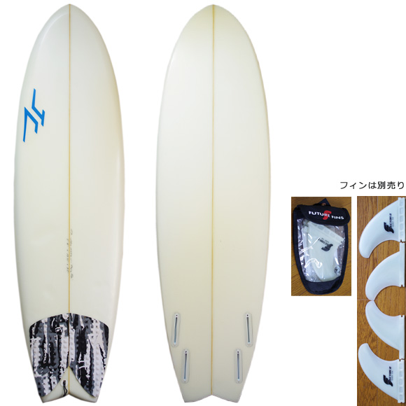 JC hawaii FLYING FISH 中古ショートボード 5`11 deck/bottom bno9629930a