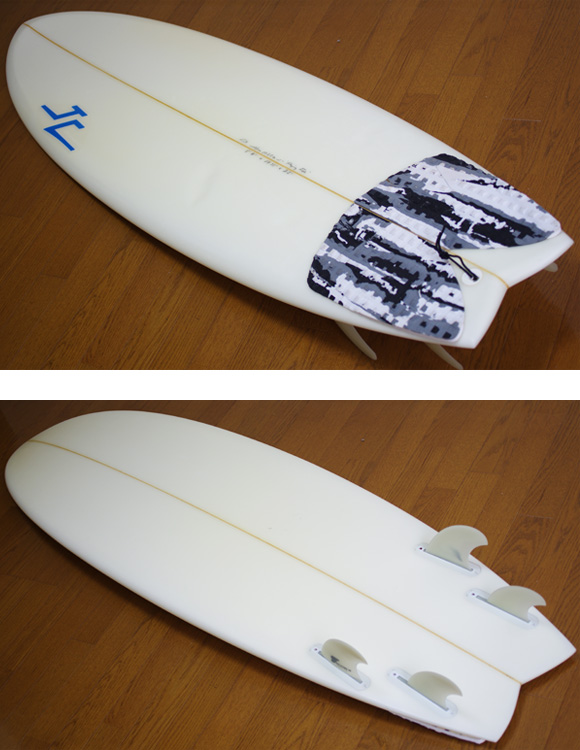 JC hawaii FLYING FISH 中古ショートボード 5`11 deck/bottom-detail  bno9629930b