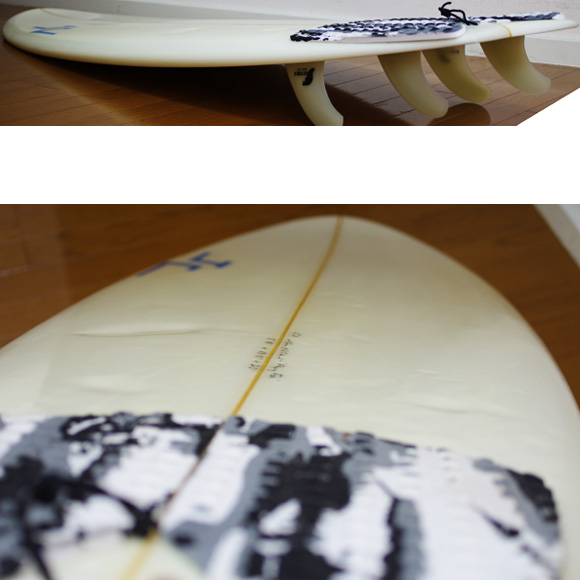 JC hawaii FLYING FISH 中古ショートボード 5`11 deck-condition bno9629930c
