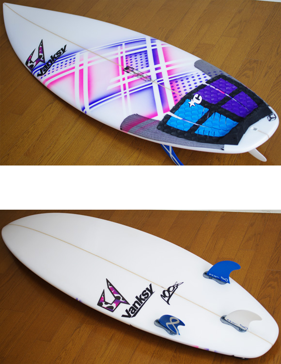 JUSTICE Loop 中古ショートボード 5`11 deck/bottom-detail bno9629931b