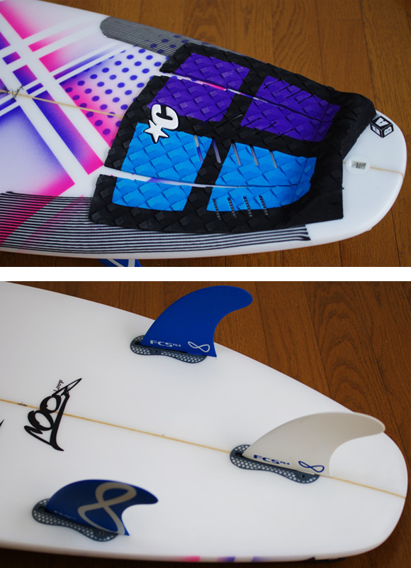 JUSTICE Loop 中古ショートボード 5`11 fin/tail bno9629931d