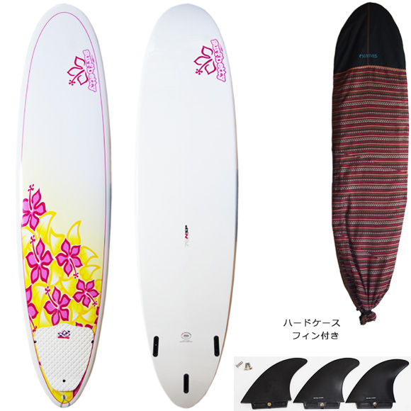 NSP Surfbetty 中古ファンボード7`6 deck/bottom bno9629933a