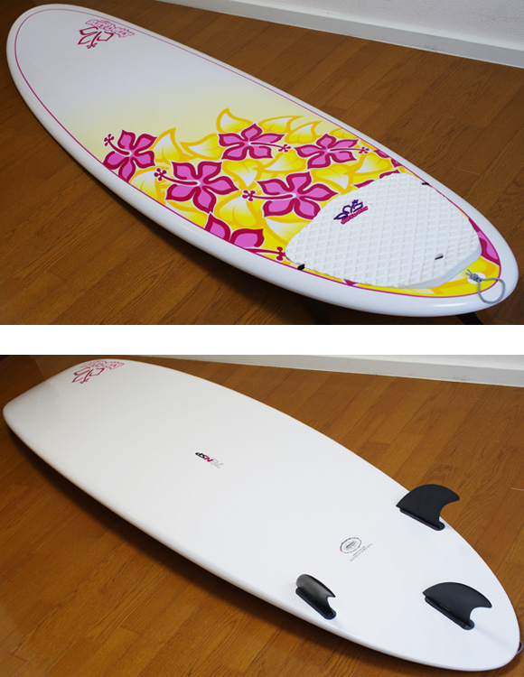 NSP Surfbetty 中古ファンボード7`6 deck/bottom-detail bno9629933b