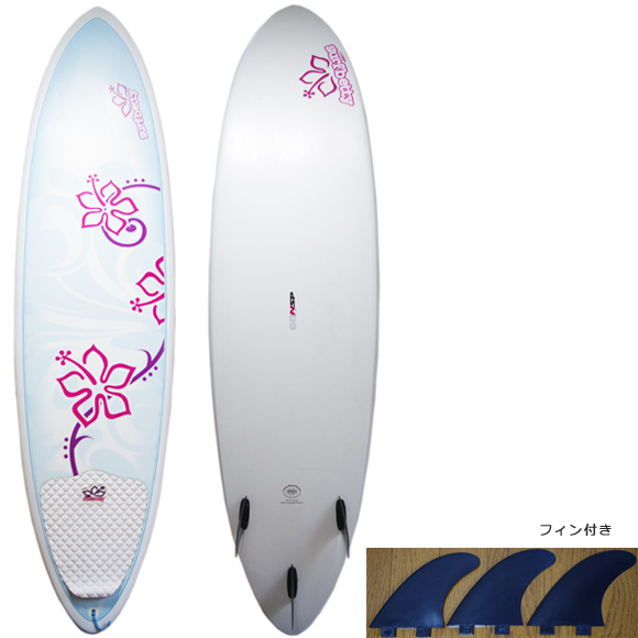 NSP Surfbetty 中古ファンボード6`8 EPOXY deck/bottom bno9629944a
