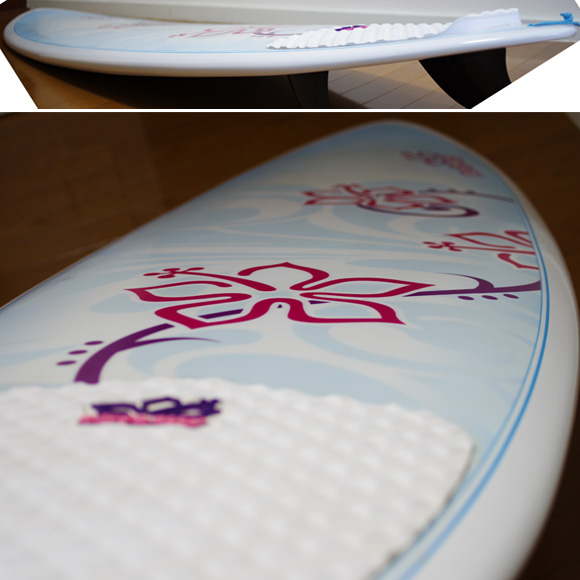 NSP Surfbetty 中古ファンボード6`8 EPOXY deck-condition bno9629944c