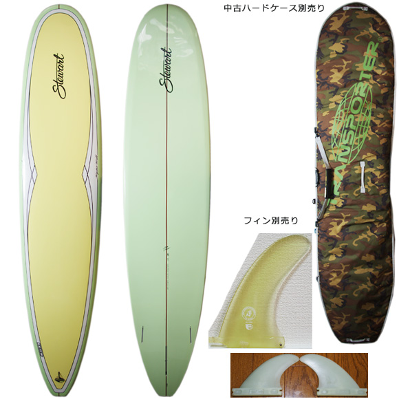 Stewart Hydro Hull Model EPOXY 中古ロングボード 9`0 deck/bottom bno9629953a