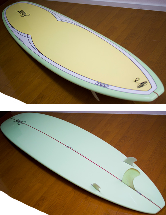 Stewart Hydro Hull Model EPOXY 中古ロングボード 9`0 deck/bottom-detail bno9629953b