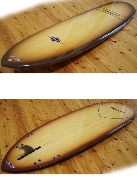 ADVANCED 中古ミニロング 7`4 deck/bottom-detail bno9629957b