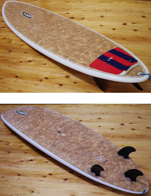 NSP COCO MAT 中古ファンボード7`2 deck/bottom-detail bno9629958b
