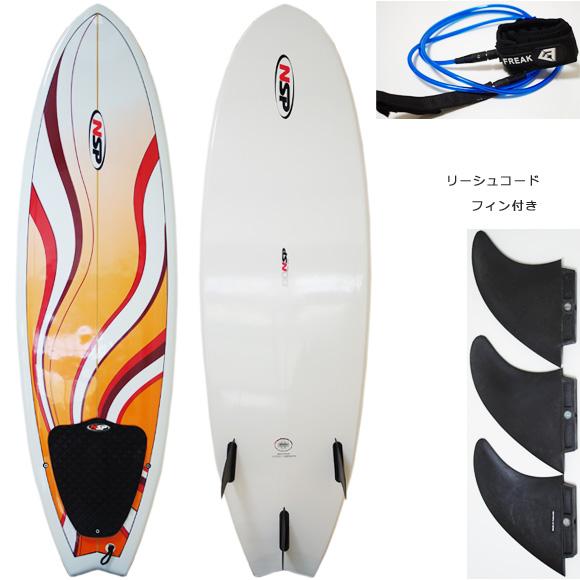 NSP Fish 中古ショートボード 6`0 deck/bottom bno9629963a