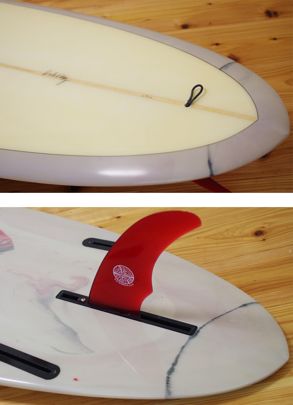 VELZY SURFBOARDS 中古ファンボード7`6 fin/tail bno9629964d
