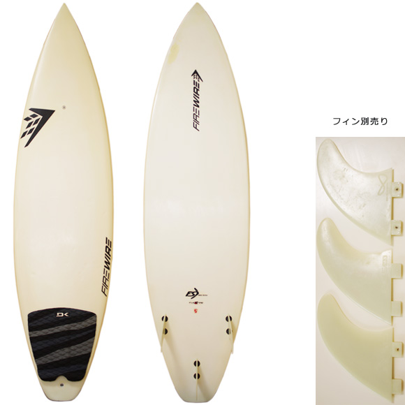 FIREWIRE FLEXFIRE(JAPAN) 中古ショートボード 6`0 deck/bottom bno9629965a