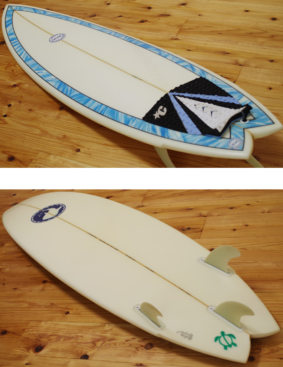 I-MODE-D 中古ショートボード 5`11 deck/bottom-detail bno9629972b