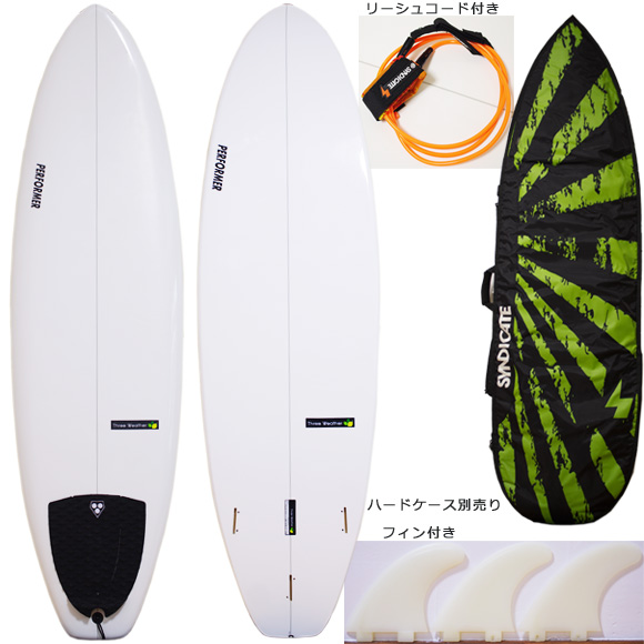 THREE WEATHER PERFORMER 中古ファンボード 6`4 deck/bottom bno9629973a