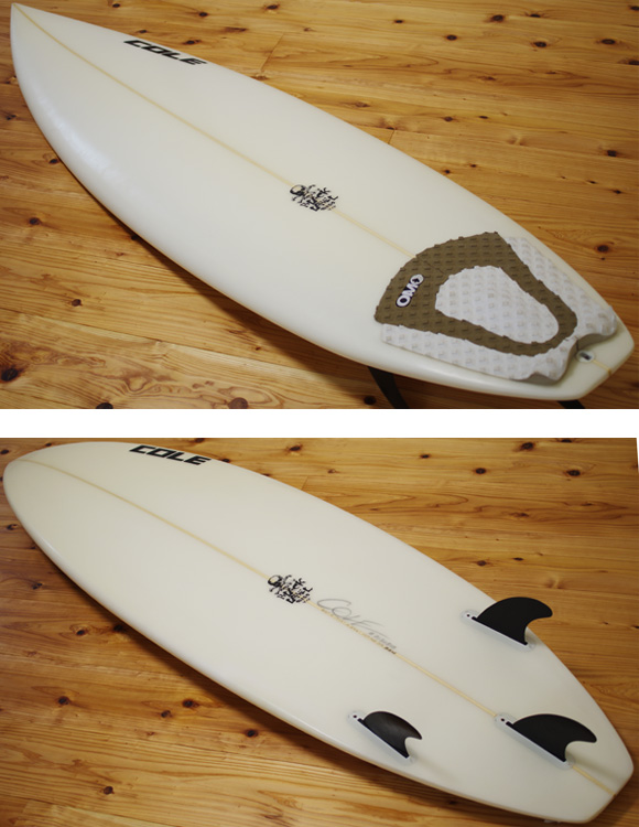COLE / ZEN BLACK LABEL 中古ショートボード 6`0 deck/bottom-detail bno9629975b